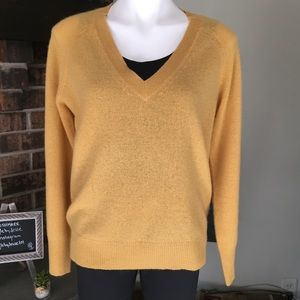 360 Cashmere Nevaeh Butternut V-Neck Sweater, S